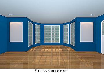 青, 反響室, 空