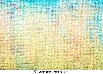青, 古い, 生地, texture:, 抽象的, 黄色, パターン, 緑の背景, textured, 背景