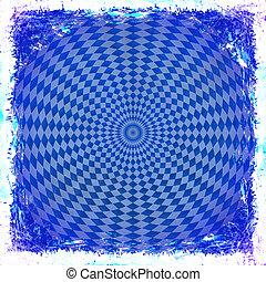 青, 古い, border., 型, 抽象的, 手ざわり, バックグラウンド。, グランジ, フレーム