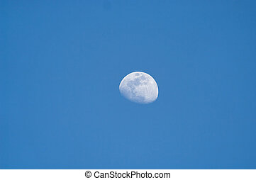 青, 四分の一, 空, 3, 月