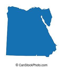 青, 地図, エジプト