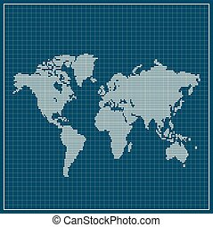 青, 地図, 点を打たれた, 上に, 背景, 世界