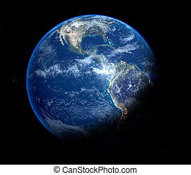 青, 地球