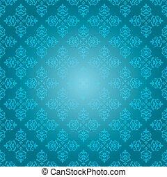 青, 型, -, ベクトル, 背景 パターン