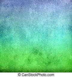 青, 型, 緑の背景, 手ざわり