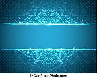 青, 型, 花, 背景