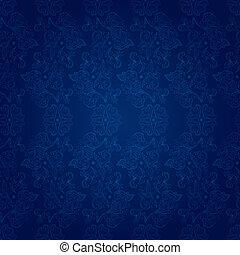 青, 型, 花, seamless, パターン