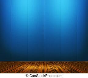 青, 型, 部屋, 背景