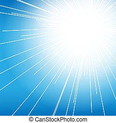 青, 太陽の背景