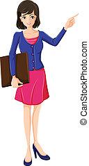 青, 女性実業家, ブレザー