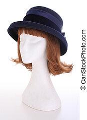 青, 女性 帽子