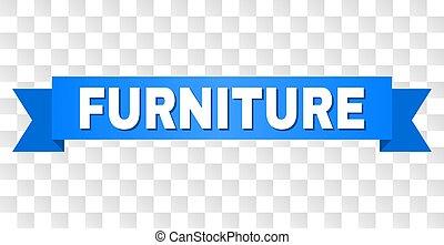 青, 家具, リボン, タイトル