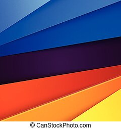青, 層, 抽象的, 黄色, オレンジ, ペーパー, 背景, 赤