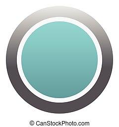 青, 平ら, スタイル, ボタン, アイコン, ラウンド
