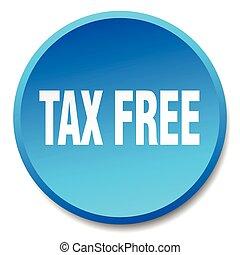 青, 平ら, ボタン, 税, 隔離された, 無料で, 押し, ラウンド