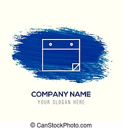 青, 平ら, メモ用紙, -, 水彩画, デザイン, 背景, アイコン