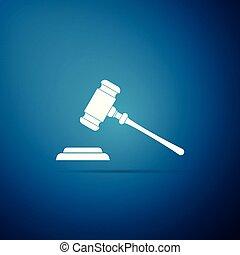 青, 平ら, 正義, 裁判官, 法廷, stand., 隔離された, イラスト, 判決, ビルズ, バックグラウンド。, ベクトル, 文, 小槌, アイコン, ハンマー, オークション, シンボル。, design.