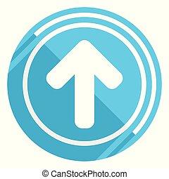 青, 平ら, 矢, 網, 編集, の上, イラスト, アプリケーション, ベクトル, デザイン, モビール, 容易である, アイコン, webdesign