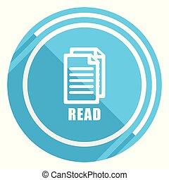 青, 平ら, 網, 読まれた, イラスト, 編集, アプリケーション, ベクトル, デザイン, モビール, 容易である, アイコン, webdesign