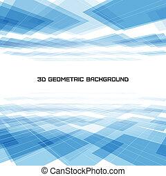 青, 幾何学的, 背景, 3d