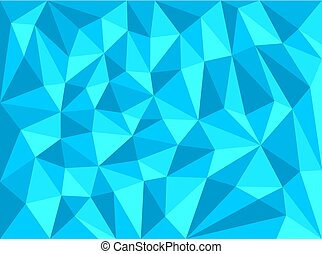 青, 幾何学的, 背景