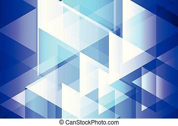 青, 幾何学, 抽象的, 背景