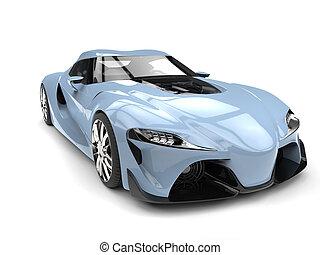 青, 広い 角度, 自動車, 現代, 空, フランス語, スポーツ, -, クローズアップ, 前部打撃, 極度, 光景