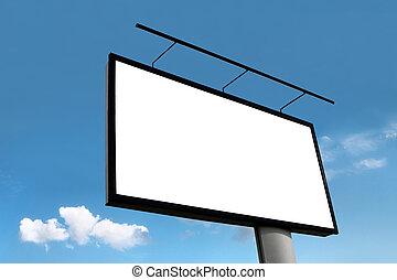 青, 広告板, 空, 背景