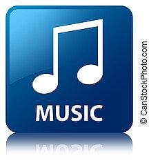 青, 広場, ボタン, 音楽,  (tune,  icon)