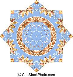 青, 形態, 種族, 装飾, 要素, デザイン, mandala, ものもらい