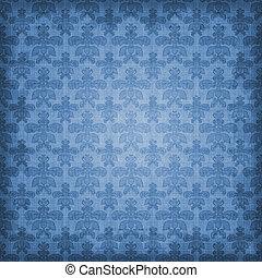 青, 影で覆われる, 背景, ダマスク織
