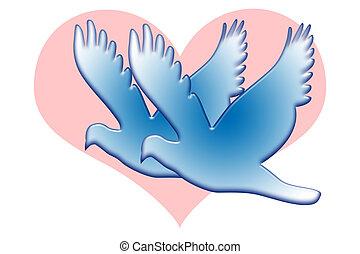 青, 愛, 鳩