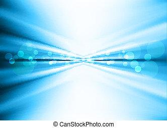 青, 技術, 抽象的, 波, 背景, 流行, スピード