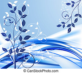 青, 抽象的なデザイン