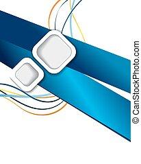 青, 抽象的なデザイン, 背景