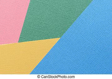 青, 抽象的, の上, 手ざわり, バックグラウンド。, ペーパー, 緑, 終わり, 黄色, 赤