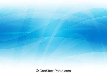 青, 抽象的, カーブ, 背景