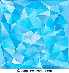 青, 抽象的, ガラス, ベクトル, 背景, 三角形