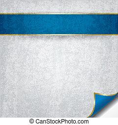 青, 抽象的, グランジ, リボン, 背景