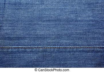 青, 抽象的, ジーンズ, 黄色, 織物, バックグラウンド。, ∥あるいは∥, 背景, ステッチ