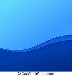 青, 抽象的, ストライプ, 背景, 波