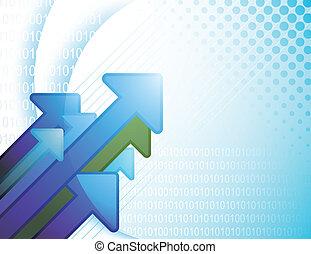 青, 抽象的, デジタル