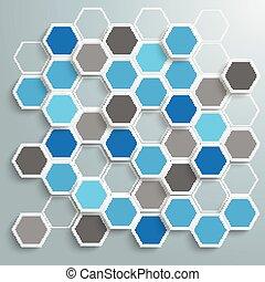 青, 抽象的, ハチの巣, ペーパー, 背景