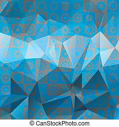 青, 抽象的, パターン