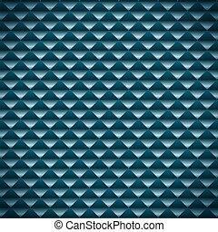 青, 抽象的, ベクトル, モザイク, 背景