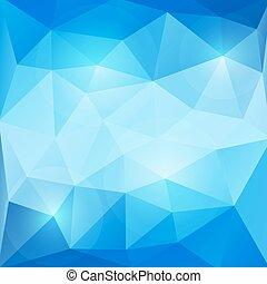 青, 抽象的, ベクトル, 三角形, 背景