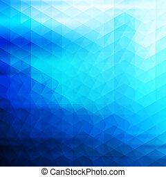 青, 抽象的, ベクトル, 幾何学的, 背景