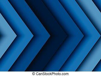 青, 抽象的, ベクトル, 矢, 背景