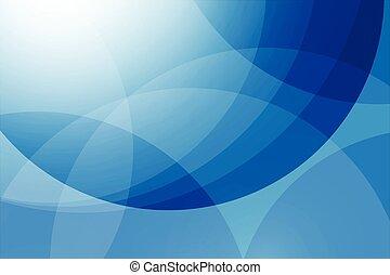 青, 抽象的, ベクトル, 背景