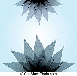 青, 抽象的, ベクトル, flower.